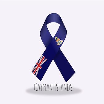 Caiman inseln flaggenband design