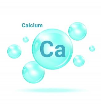 Calcium graphic medicine bubble auf weißem hintergrund illustration. gesundheitswesen und medizinische konzeption.