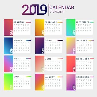 Calendra 2019 ui farbverlauf