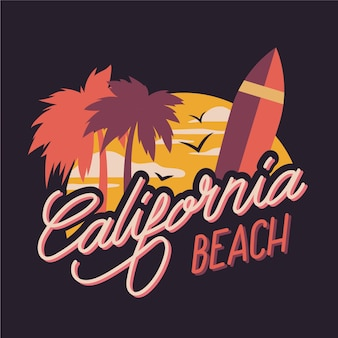 California beach city schriftzug