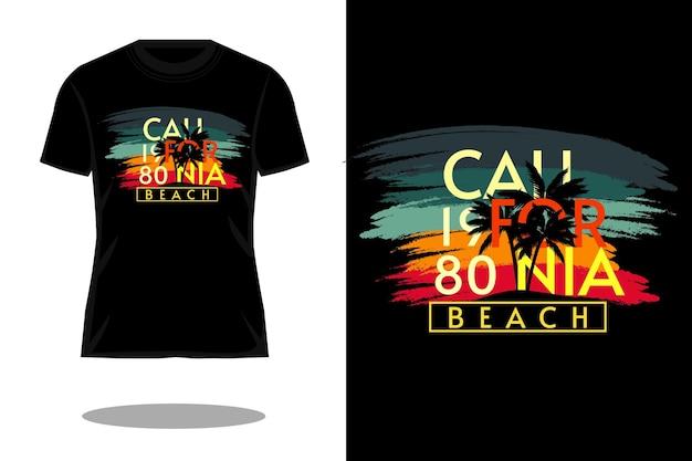 California beach retro vintage t-shirt design