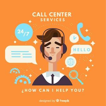Call-center-agent-konzept