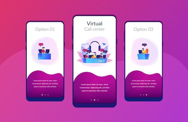 Call-center-app-interface-vorlage