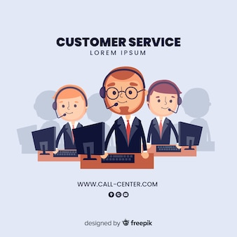 Call center assistent hilft kunden