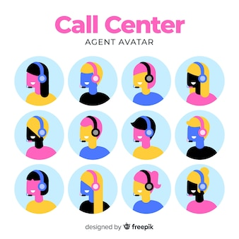 Call-center-avatarsammlung