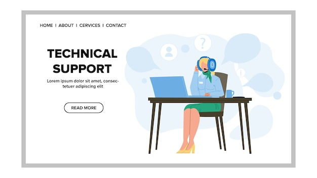 Call center-betreiber des technischen supports