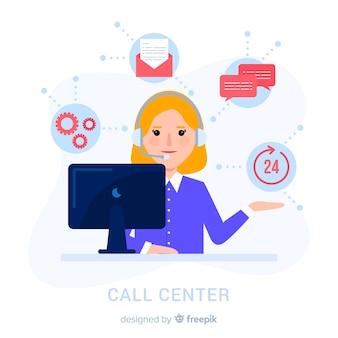 Call-center-frau