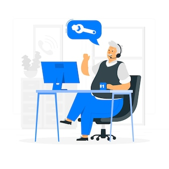 Call center konzept illustration