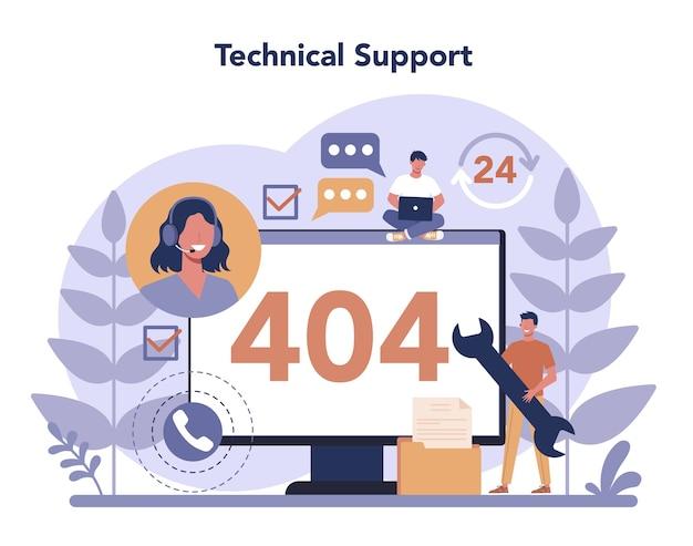Call center oder technisches support-konzept