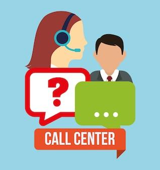 Call-center-service-symbole