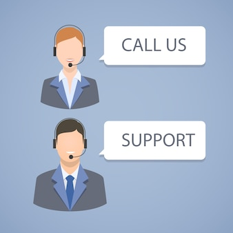Call-Center-Support-Emblem