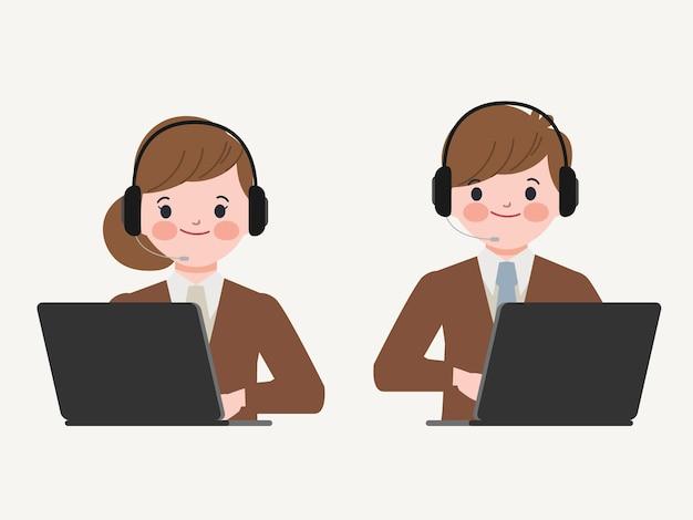 Call center und kundenservice charakter.