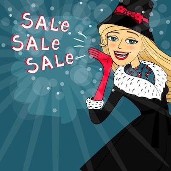 Call for winter sales, vorlage karte