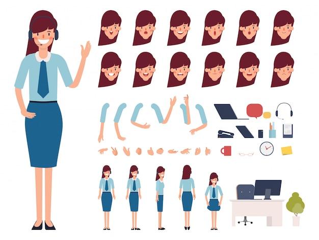 Callcenter oder kundenservice bereit für animationen.