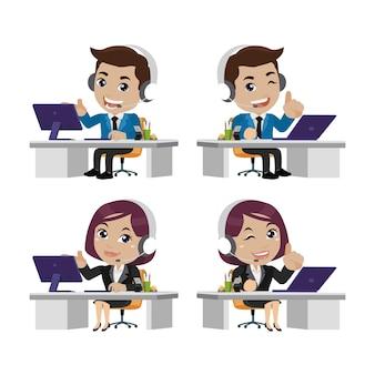 Callcenter- und kundenservice-charakter
