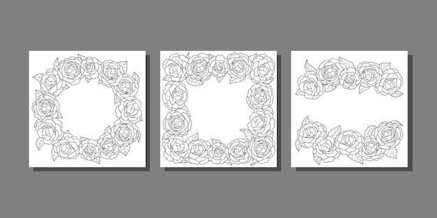 Camellia cover vorlagen set für grußkarten