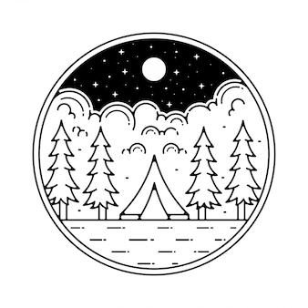Camp monoline vintage outdoor-design