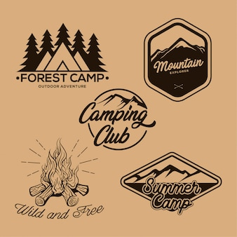 Camper abzeichen vintage logo
