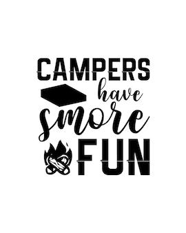 Camper haben spaß an typografie
