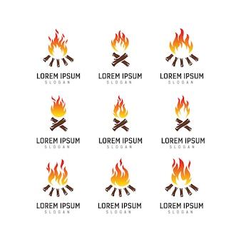 Campfire logo design vorlage