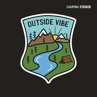 Camping-abenteuer-aufkleber-design