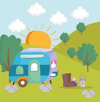 Camping camper laterne