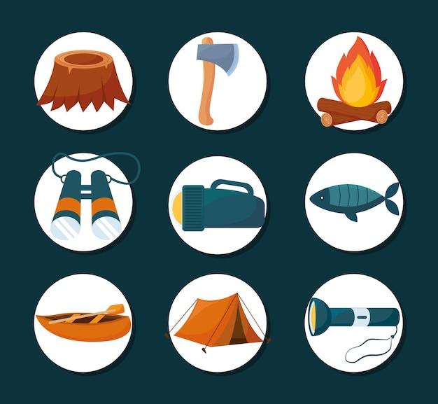 Camping elemente packen