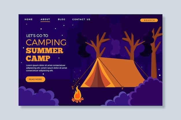 Camping landing page konzept