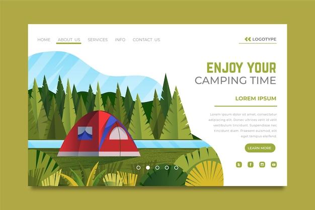 Camping landing page vorlage