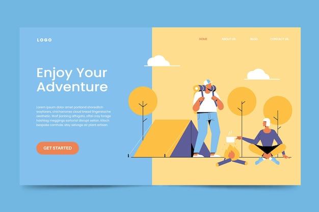 Camping landing page