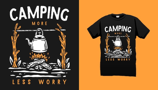 Camping leben t-shirt design
