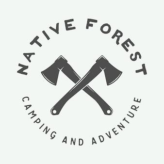 Camping-logo, abzeichen