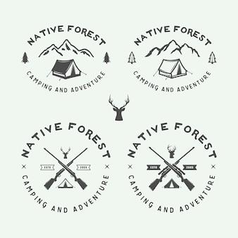 Camping-logos im freien