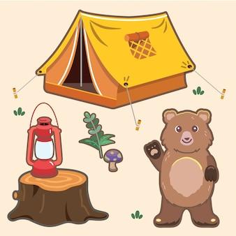 Camping mit bären set