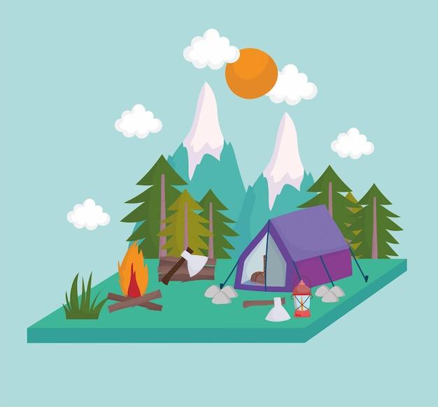 Camping naturlandschaft