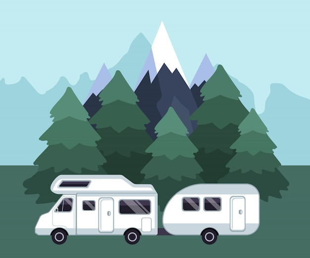 Camping reiselandschaft