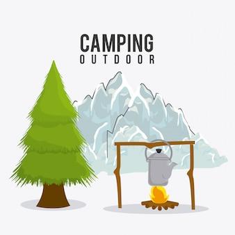 Camping, reisen und urlaub