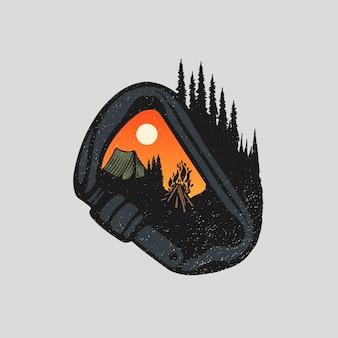 Camping und wandern in freier wildbahn