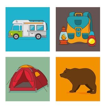 Camping urlaub und reisen