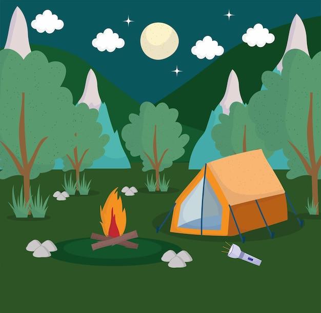 Camping zelt wald