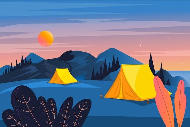 Campinggebiet landschaft