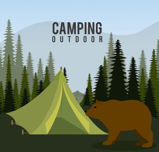 Campingreisen und urlaub.