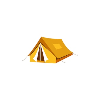 Campingzelt symbol illustration clipart-vorlage