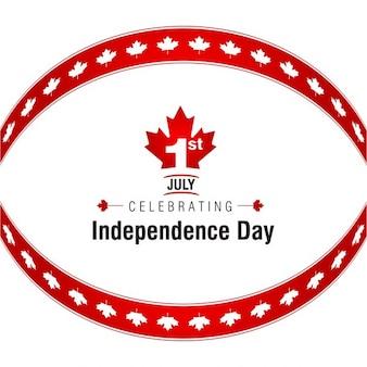 Canadian independence day label design