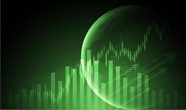 Candle-stick-diagramm des börseninvestitionshandels bullischer punkt bärischer punkt