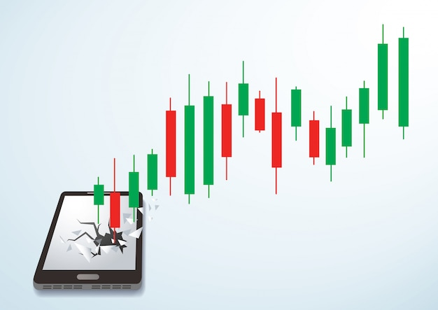 Candlestick börse durchbruch smartphone