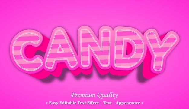 Candy 3d schriftstil-effekt