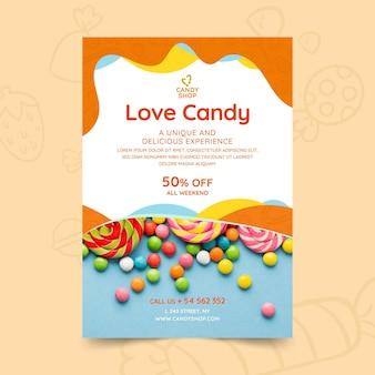 Candy flyer vorlage mit foto