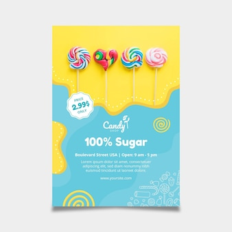 Candy flyer vorlage