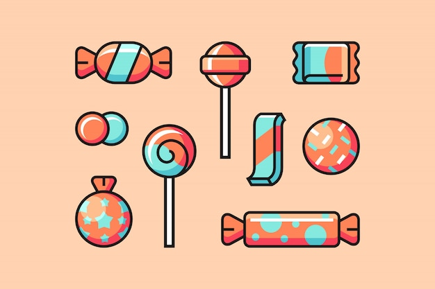 Candy icon set